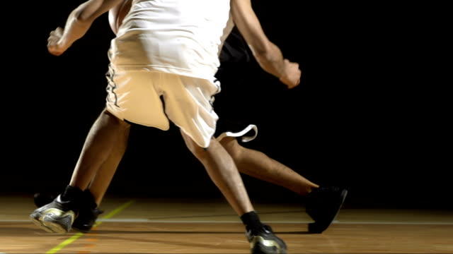 Men Playing Basketball One-On-One video