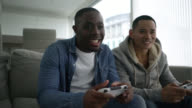 Men playing video games video