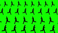 Men Running in Different Directions on a Green Screen Background video