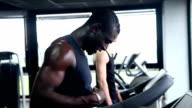 Men running on treadmill video