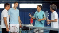 MS Men Talking After Playing Tennis Double video