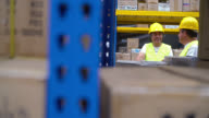 Men working at a distribution warehouse video