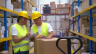Men working at a warehouse video