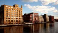 Menomonee River Canal Downtown City Landscape Milwaukee video