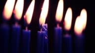 Menorah Candles - HD Video video