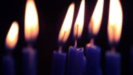 Menorah Candles - HD Video video