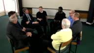Men's Support Group Circle - HD CRANE video