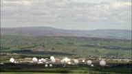 Menwith Hill Listening Station  - Aerial View - England, North Yorkshire, Harrogate District, United Kingdom video