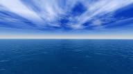 Mer calme / SEA and CLOUD LANDSCAPE (HD) video