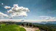 Merano cloud panning time lapse video