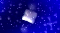 Mercury blobs on blue HD video