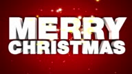 Merry Christmas 3D Text animation video