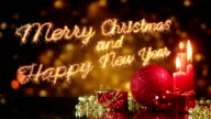 merry christmas and new year greeting last 10 seconds loop video
