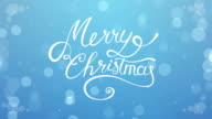 Merry Christmas. Animated background with hand drawn lettering. video