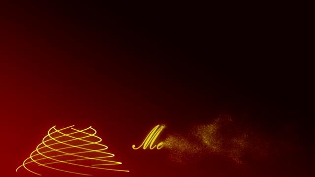 Merry Christmas animation video