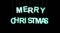 merry christmas celebration with luma matte video