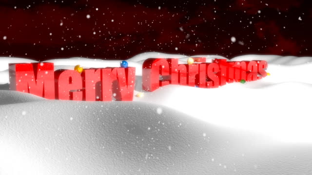 Merry Christmas in the snow video