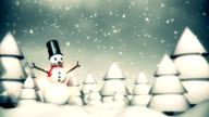 Merry Christmas Snowman Animation - Loop video