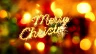 merry christmas sparkler greeting last 10 seconds loop video