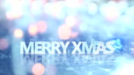 merry christmas text and blinking lights seamless loop video