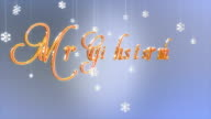 Merry Christmas title with floating Paper Flakes, Luma Matte video