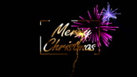 Merry Christmas With Colorful Fireworks video
