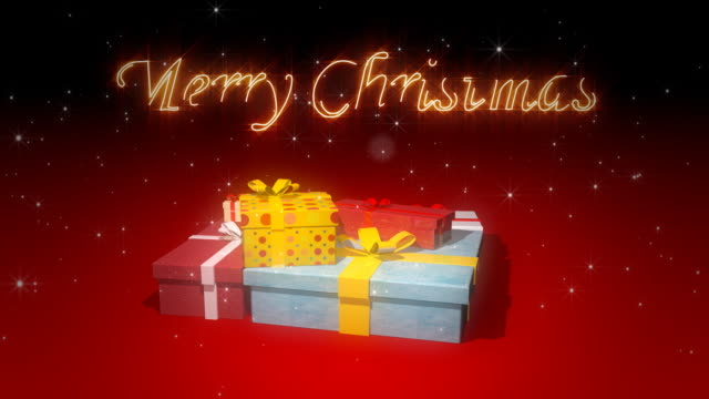 Merry Christmas with gift boxes video