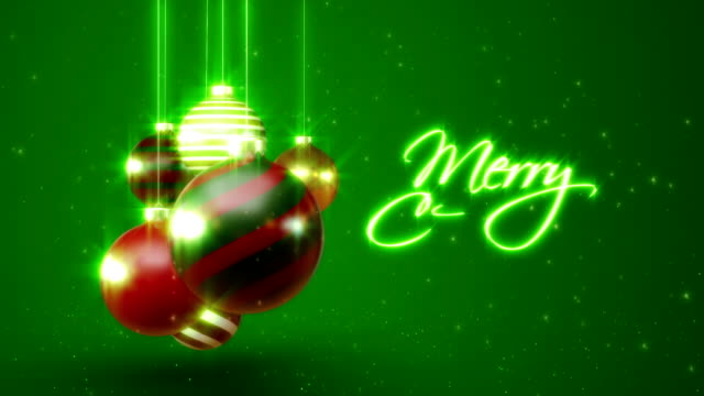 Merry Christmas with Ornament video