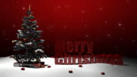 Merry Christmas with tree video