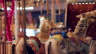 Merry go round close-up video