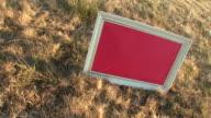 HD: Message Board On A Meadow video