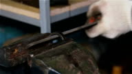 metal blank machining abrasive tool in a vice video