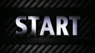 Metal Countdown, with START Text, Loop, 4k video