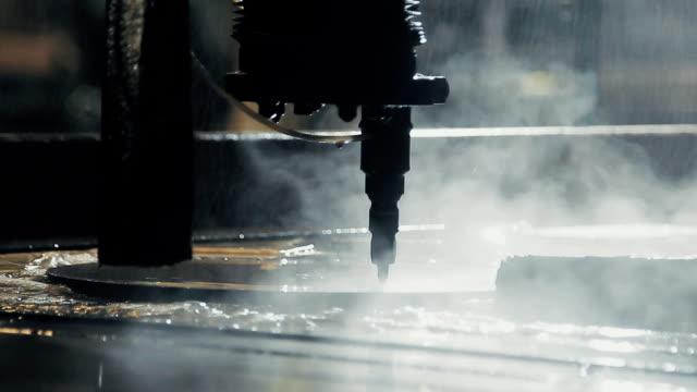 metal cutting machine CNC water jet video