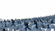 Metal Gears and Businessmen Running video