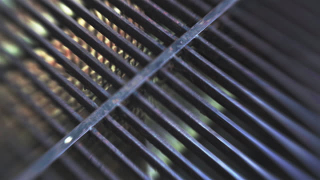 Metal grates over the subway, New York City video