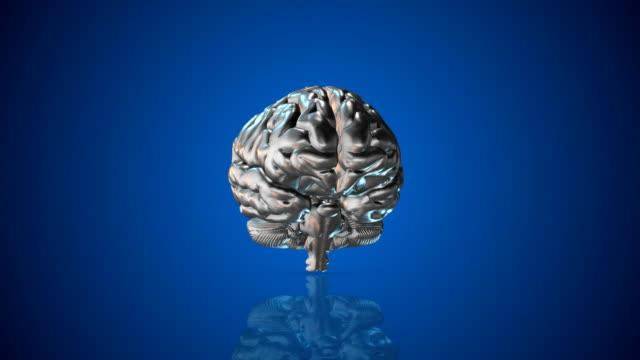 4K Metal Human Brain   Loopable video