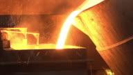 Metal industry-molten steel video