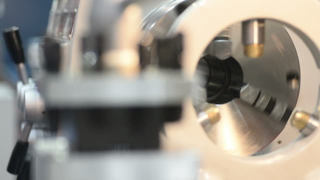HD: Metal machinery equipment video