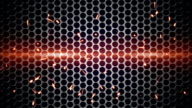 metal mesh and sparks loopable background video