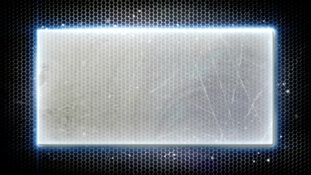 metal plate and neon lights loopable background video