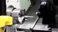 CNC metal processing machine video