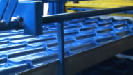 Metal Roof Tile industry - sound included, loopable, HD video