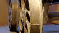 Metal round steel in brown color video