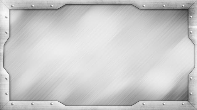 metal title plate loopable background video