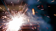 Metal welding and Sparks video