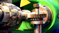 metal workshop, cogwheel production and service video