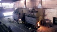 Metall production factory,  steel plant inside video