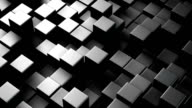 Metallic 3D boxes. Loopable abstract background. video