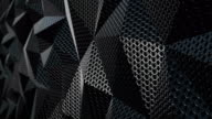 Metallic chain armor geometric background loop video